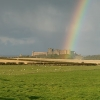 Rainbow on Bamburgh Castle