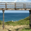 Footbridge overlooking the sea