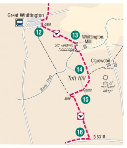 Great Whittington new route