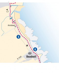 Beadnell new route
